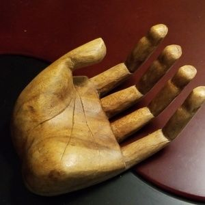 Accents - Carved Wooden Hand